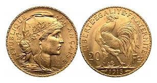 Utah French gold Rooster fractional gold coins