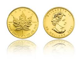 1 ounce Canadian .9999 Gold Maple leaf Coins
