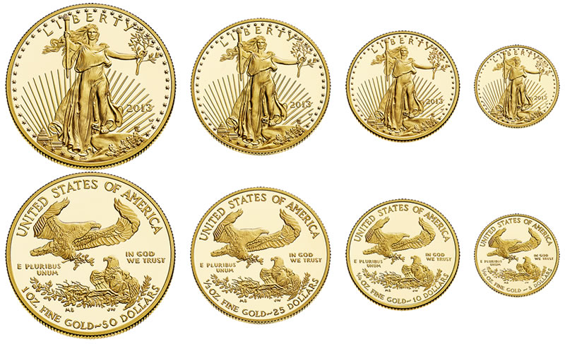 1 10 Ounce Gold American Eagles Certified