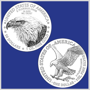New Silver and Gold American Eagle Reverse