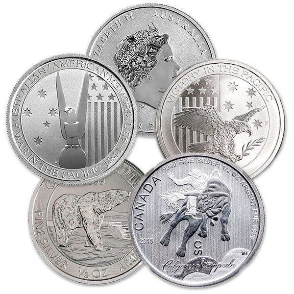 half ounce silver rounds